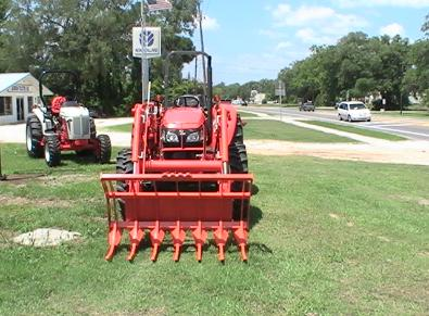 series I tractor loader heavy duty stacking clearing root